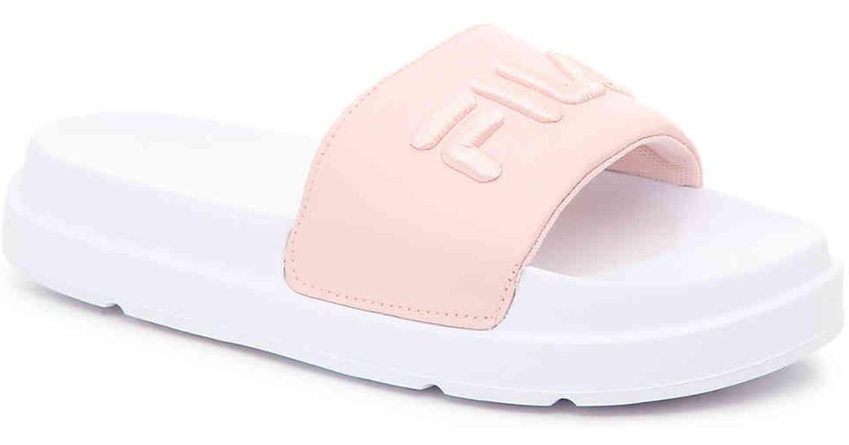 2e6095750c9 Lyst - Fila Drifter Bold Slide Sandal in Pink