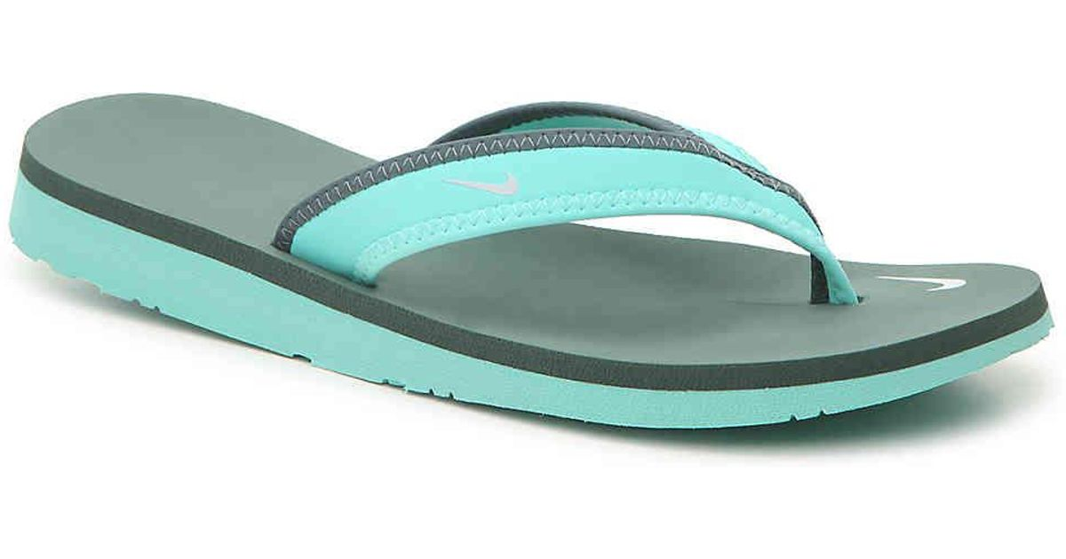 3a2c188ef071 Lyst - Nike Celso Girl Flip Flop in Green