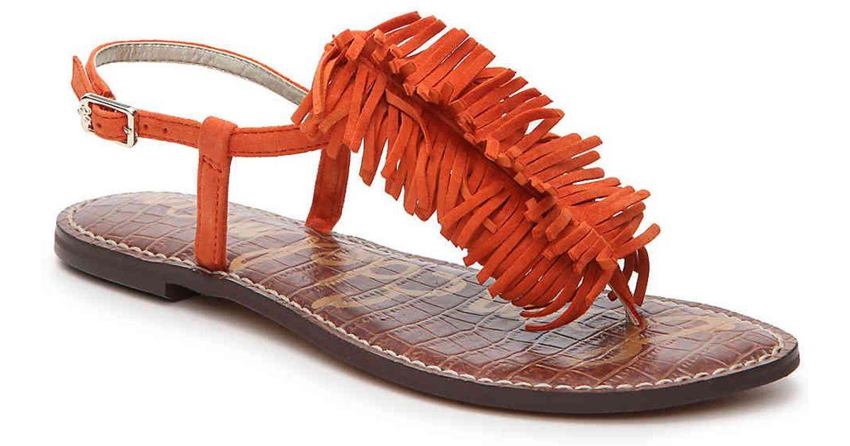 ebc661c0f578 Lyst - Sam Edelman Gela Flat Sandal in Orange