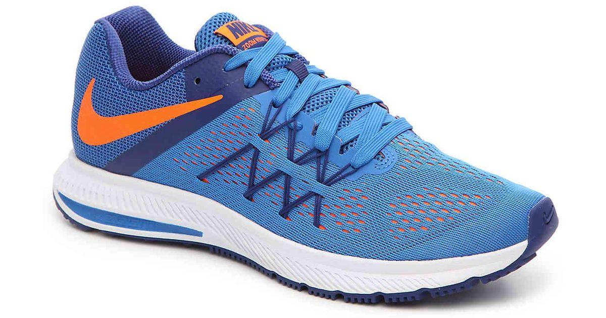 1cf4e2274885c ... clearance lyst nike zoom winflo 3 lightweight running shoe in blue for  men d0ebf ed233 ...