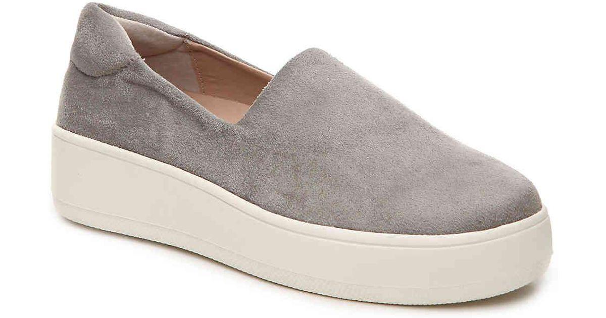 5d4a3a00152 Lyst - Steven by Steve Madden Hilda Platform Slip-on Sneaker in Gray