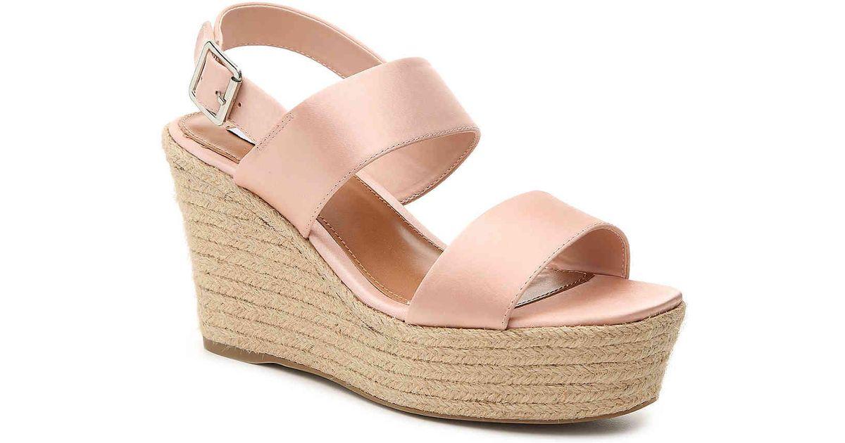 75e6c084d77d Lyst - Steve Madden Marian Wedge Sandal in Pink