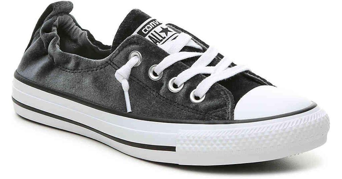 e309b726a35178 Lyst - Converse Chuck Taylor All Star Shoreline Velvet Slip-on Sneaker in  Black