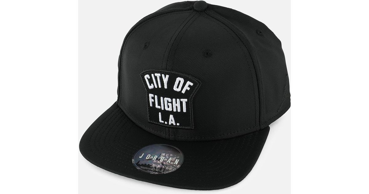 bdd021080129aa real jordan jumpman clc99 trucker cap 9b56f 54601  wholesale lyst nike  jumpman pro city of flight l.a. zip cap in black for men 872ec