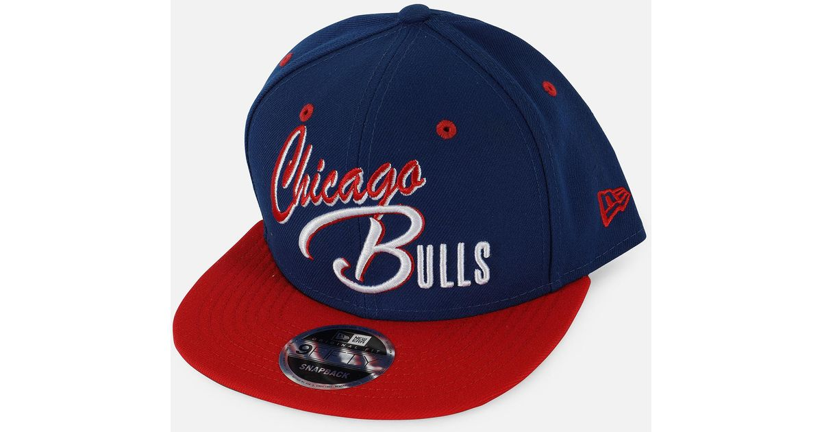 outlet store c4606 4c802 Lyst - Ktz Nba Chicago Bulls Exclusive 9fifty Snapback Hat in Blue for Men