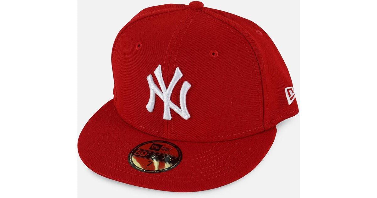 239d696e577 ... australia lyst ktz mlb basic 5950 new york yankees fitted hat in red  for men f01ef
