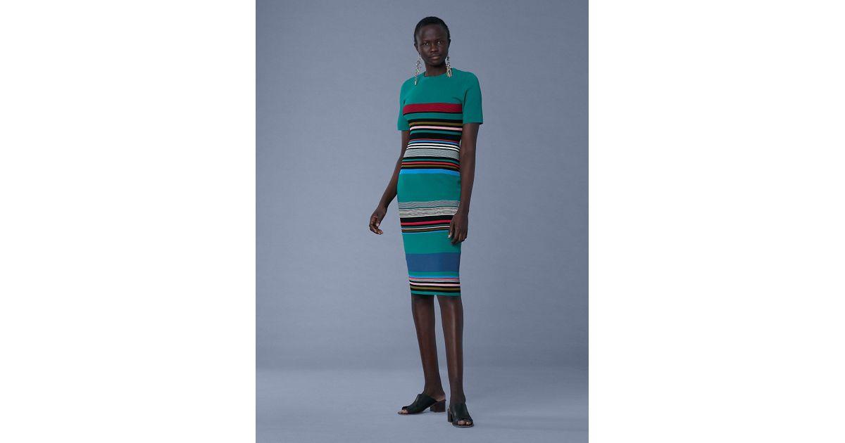 22ad4bb63b Diane von Furstenberg Soft Shoulder Sweater Dress - Lyst