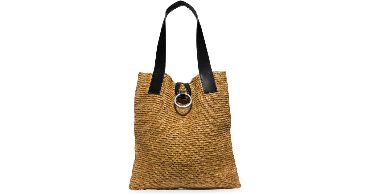 06fe05e746174d ... bag in brown b3258 0b0b1; spain lyst michael kors janey extra large  raffia tote in black ace17 fd338