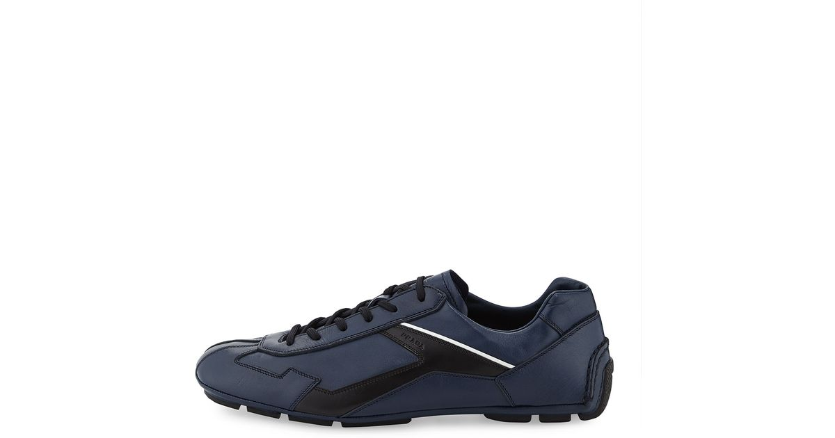 In Sneaker Lyst Blue For Carlo Leather Monte Prada Men IwnanFqXvH