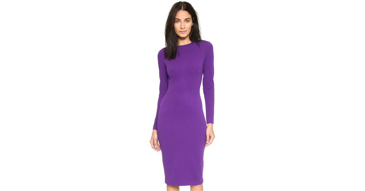 5th & mercer Long Sleeve Dress - Purple in Purple   Lyst