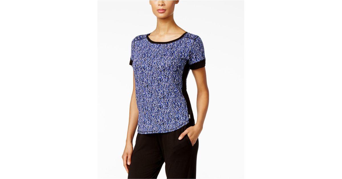 73d629b4f1064c DKNY Short-sleeve Printed Pajama Top in Blue - Lyst
