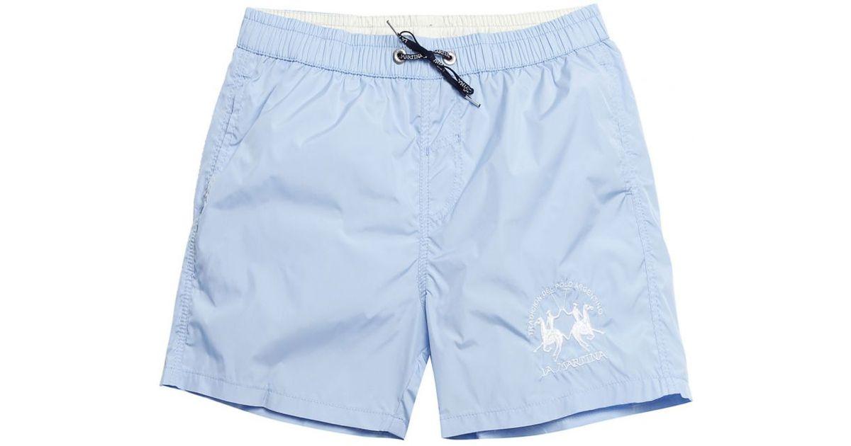 7c1f6e6a5b La Martina Logo Swim Shorts in Blue for Men - Lyst