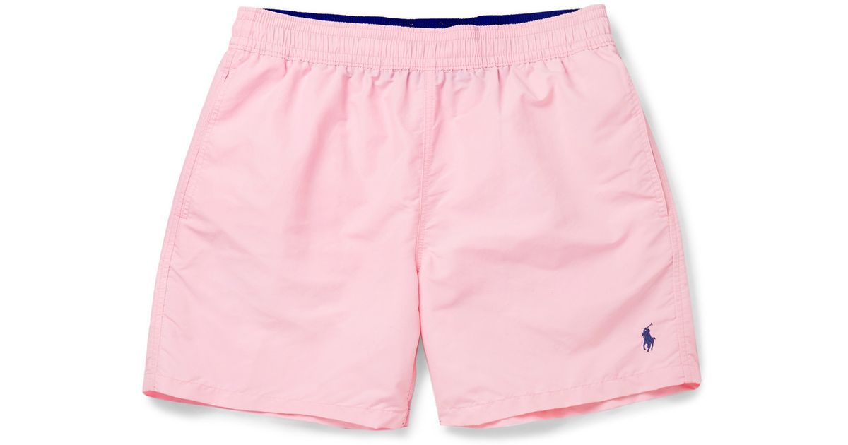 19d85dc6a6bb4 Polo Ralph Lauren Mid-Length Swim Shorts in Pink for Men - Lyst
