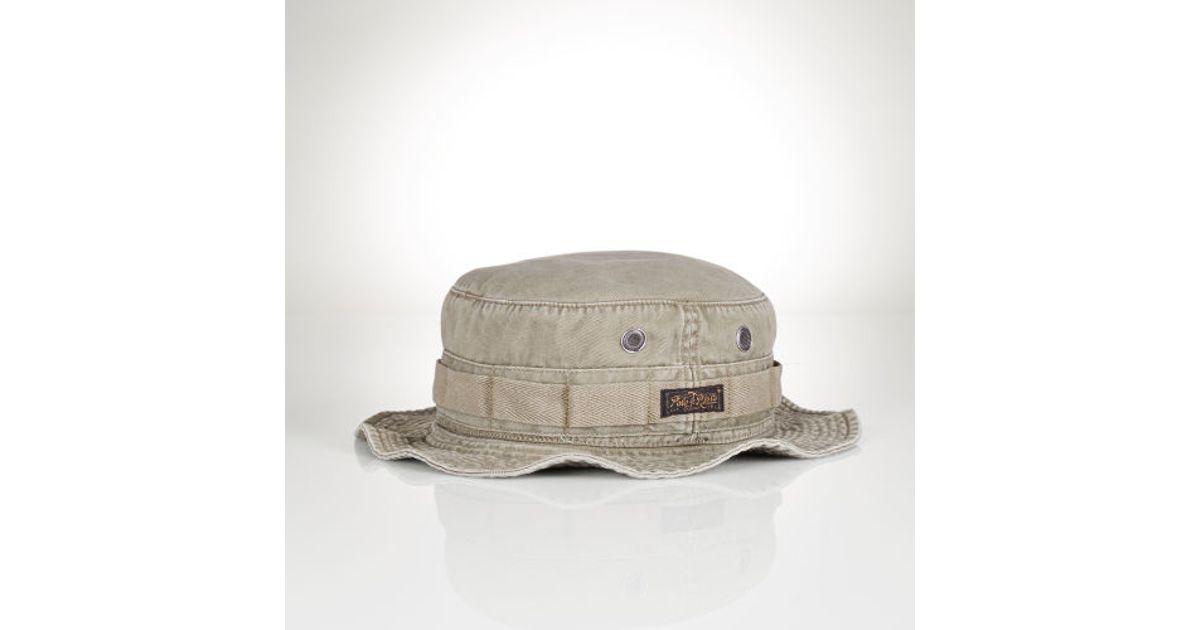 Lyst - Polo Ralph Lauren Army Field Hat in Green for Men 593d0fe929d