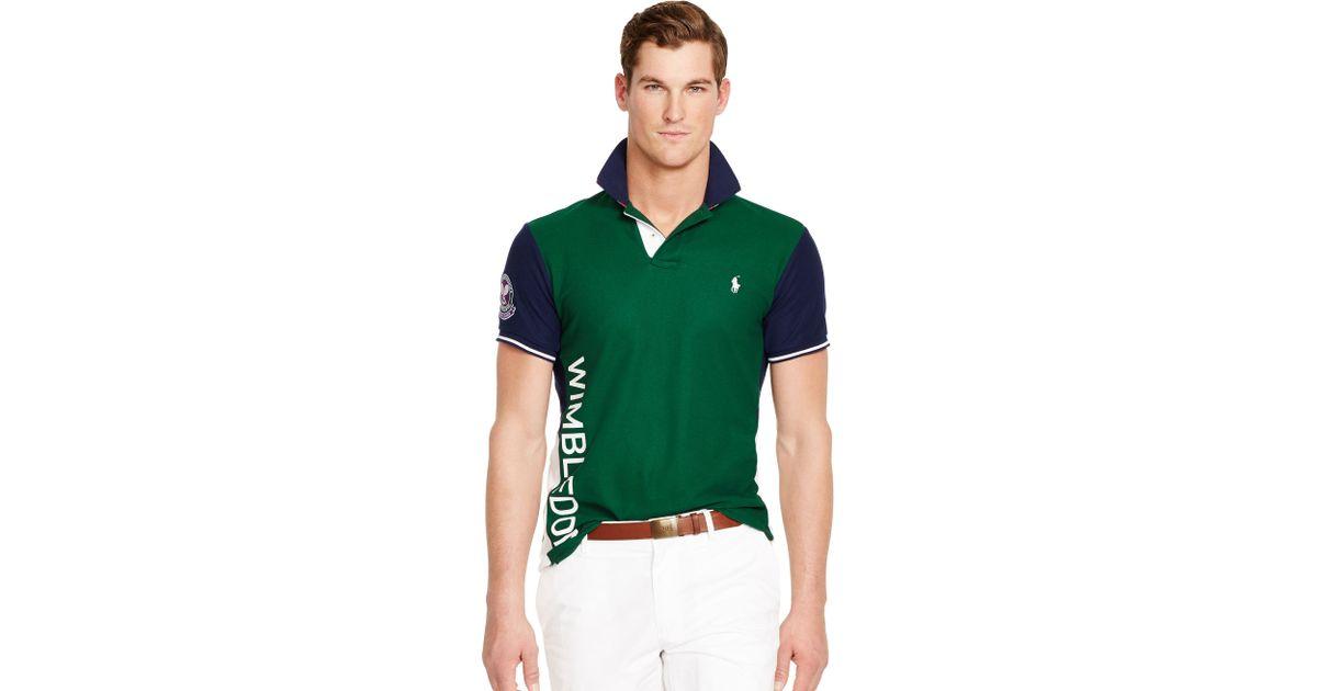 a9a7140e ... real ralph lauren wimbledon piqué polo shirt in green for men lyst  6715e d3b91