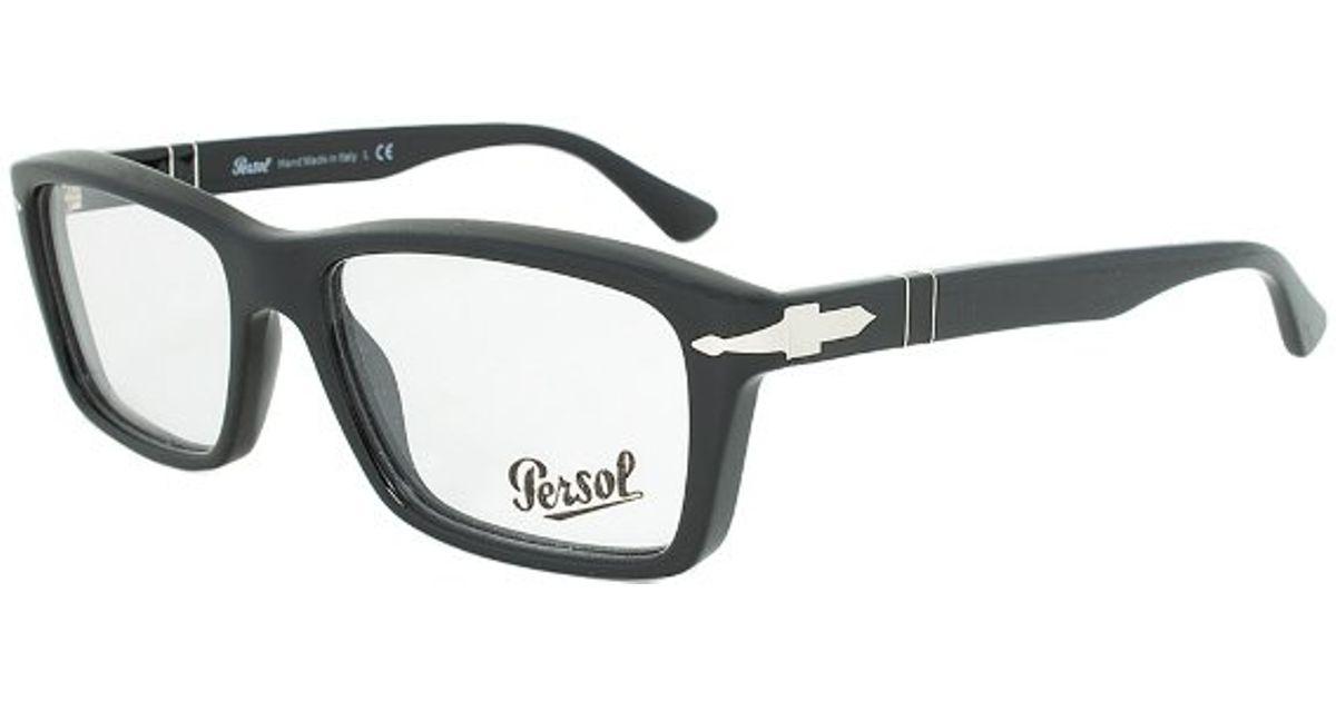 Eyeglass Frames Rectangular : Persol Po3060v 9014 Rectangular Eyeglass Frame in Black Lyst