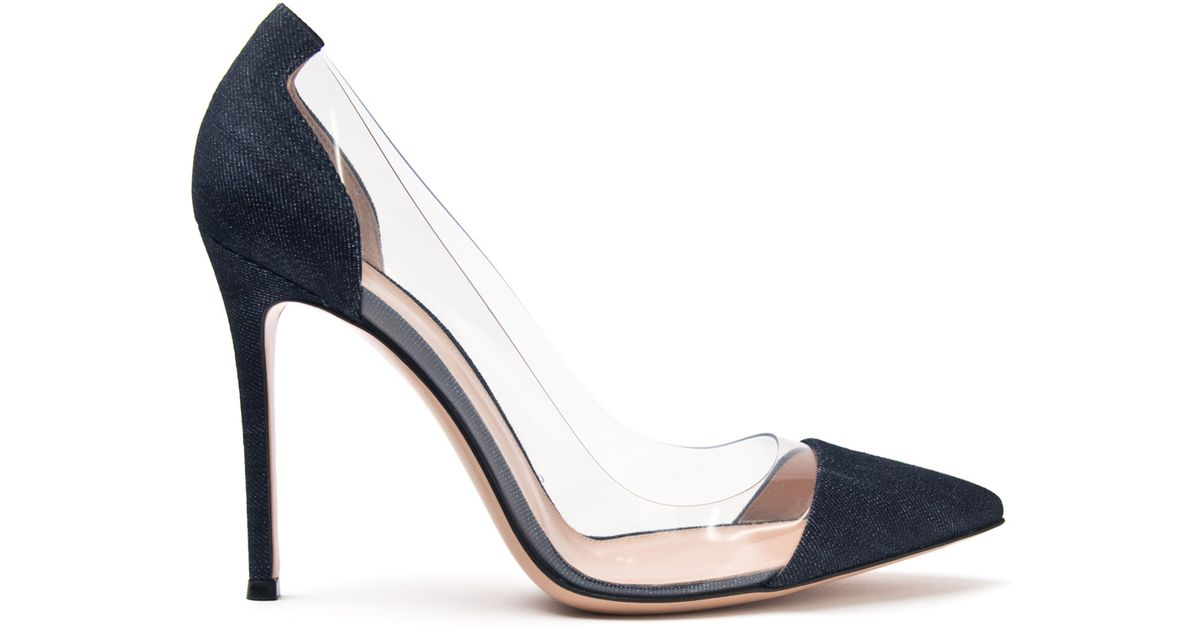 sale classic Gianvito Rossi Denim-Trimmed Pointed-Toe Pumps original cheap price countdown package online popular sale online cheap latest collections p3IgiY