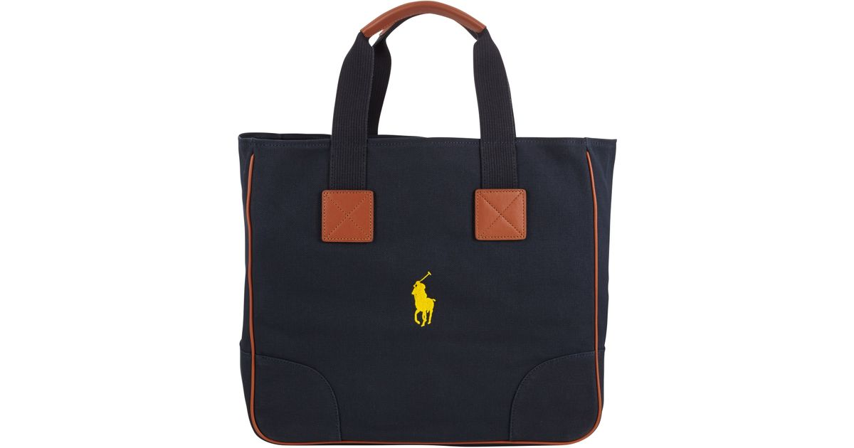 0c5c903ec7c5 ... free shipping polo ralph lauren cotton canvas tote bag in blue for men  lyst 21719 a0b1a