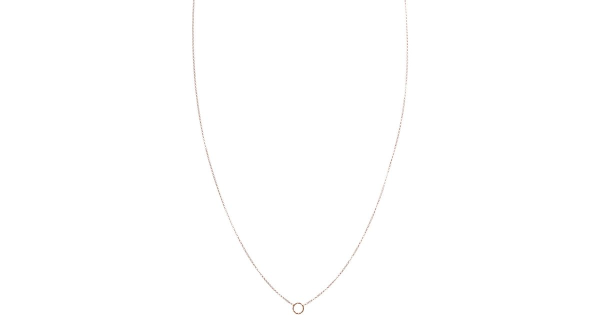 031c8ed179560b Dogeared Exclusive For Asos Rose Gold Plated Tiny Sparkle Karma Circle  Necklace in Metallic - Lyst