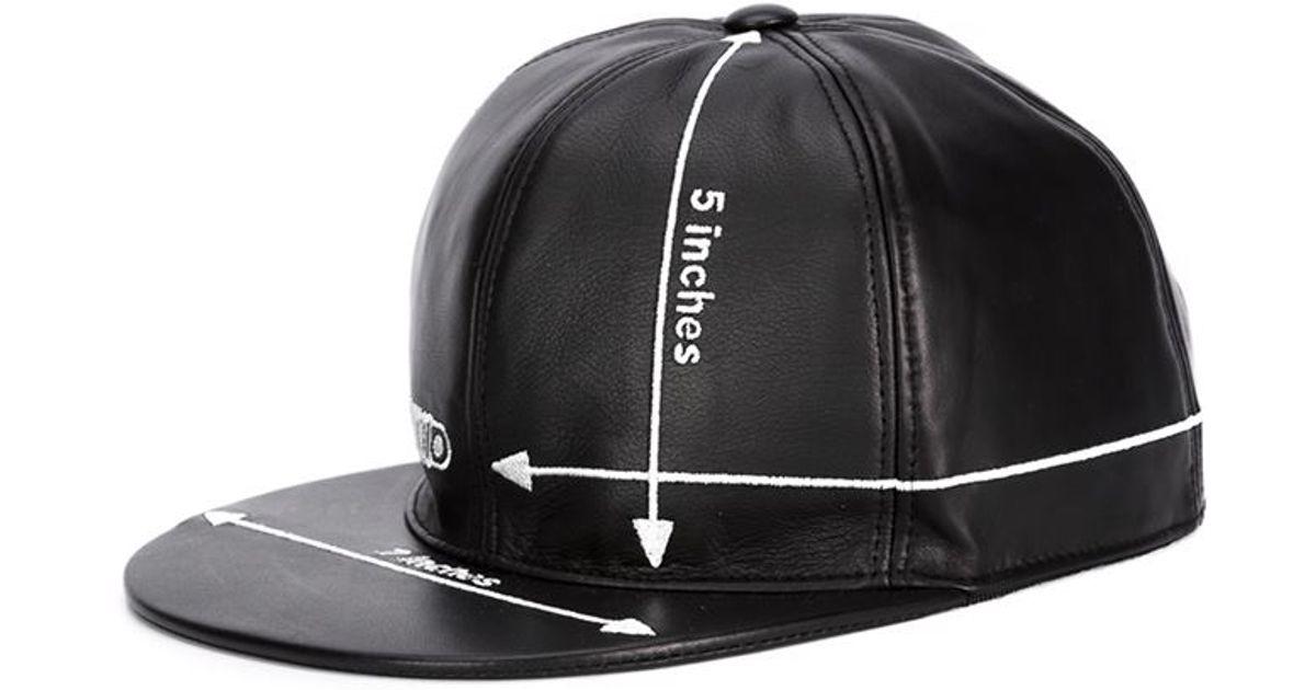 Lyst - Moschino Embroidered Measurements Cap in Black 256625ff8e5e