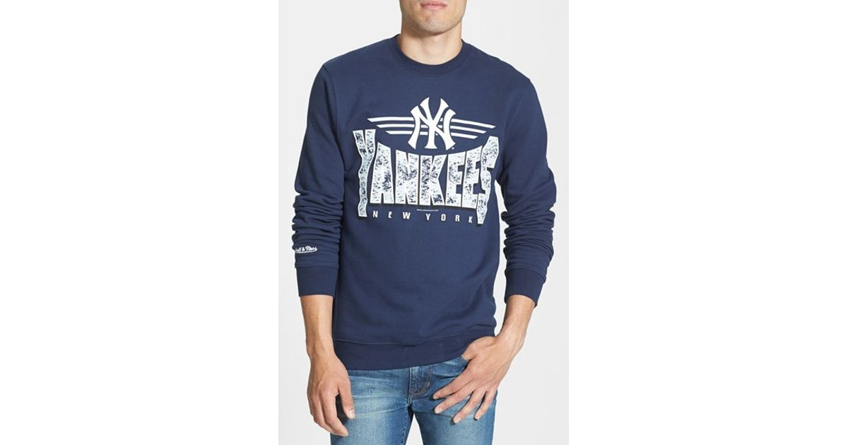 competitive price 71ae1 22fee Mitchell & Ness - Blue 'new York Yankees' Crewneck Sweatshirt for Men - Lyst
