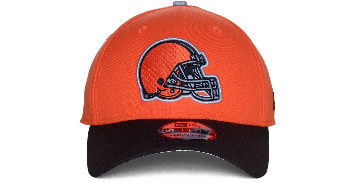 new concept d59a1 fa223 ... top quality lyst ktz cleveland browns on field reflective 39thirty cap  in orange for men ec5df