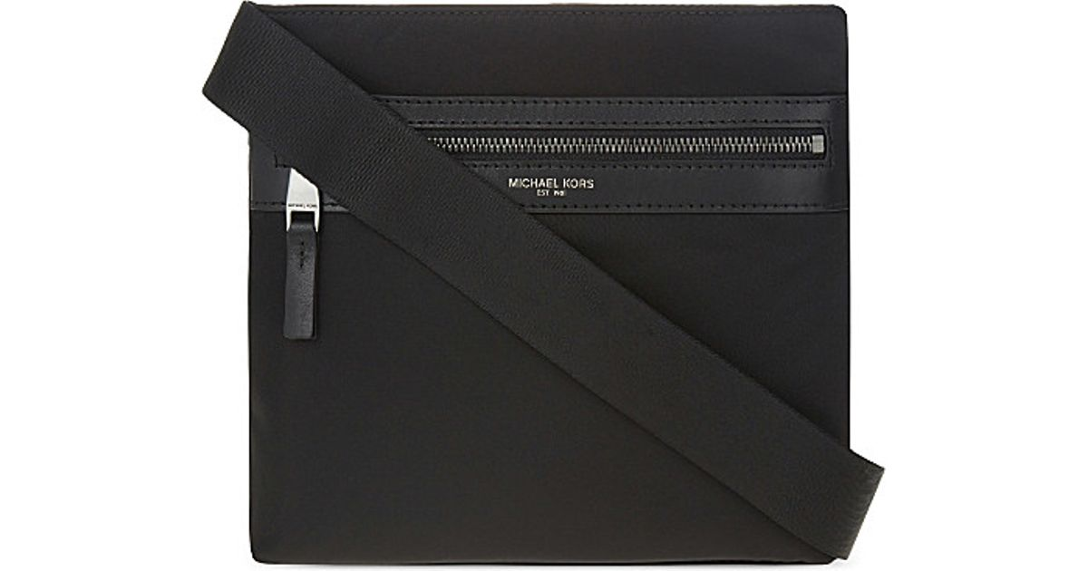 5e23fd2be1ec Lyst - Michael Kors Kent Small Nylon Cross-body Bag in Black for Men