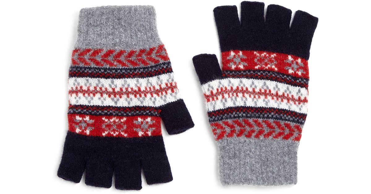 Barbour Fair Isle Gloves in Blue for Men | Lyst