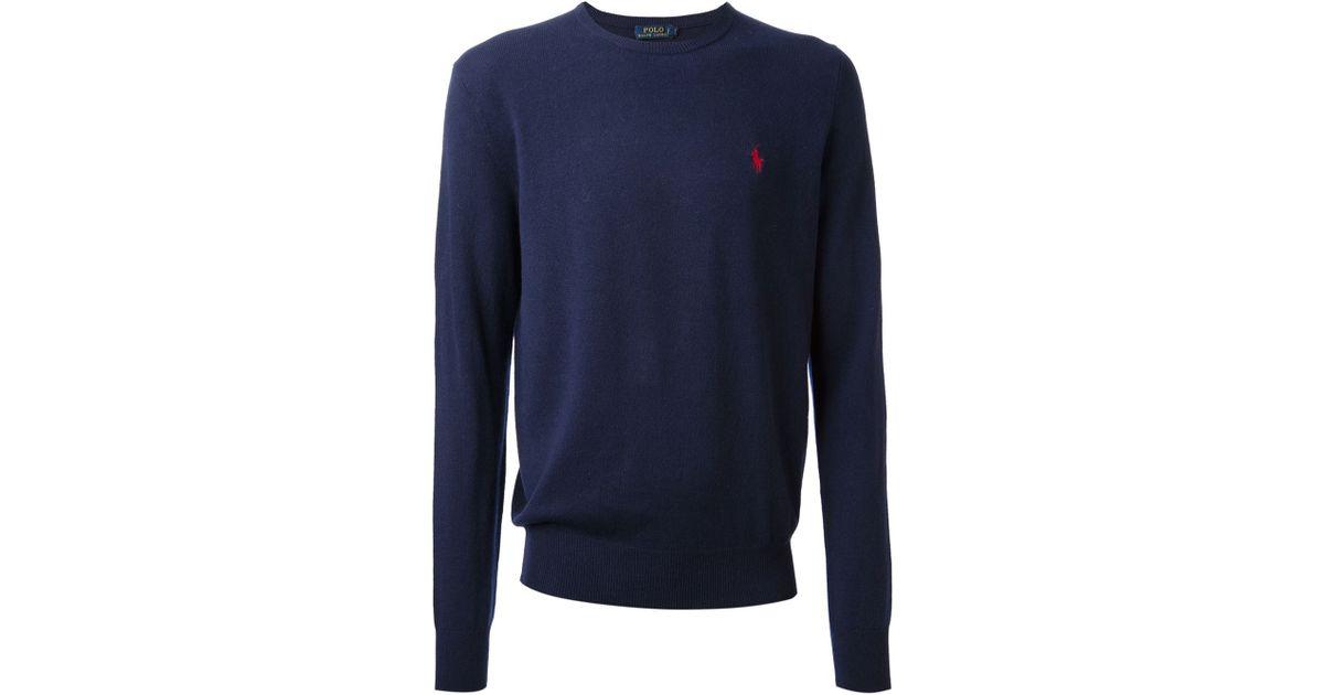 light blue polo sweater larf loren
