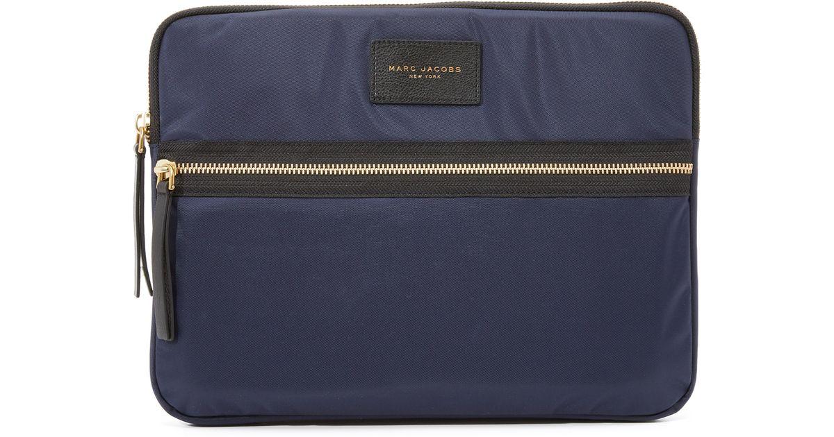 marc jacobs nylon biker 13 computer case in blue lyst. Black Bedroom Furniture Sets. Home Design Ideas
