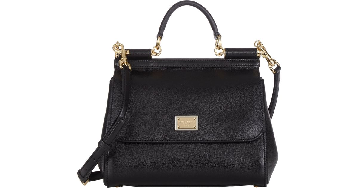 6707994a94 Dolce   Gabbana Small Miss Sicily Bag in Black - Lyst