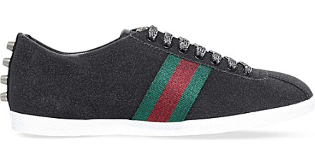ffb9aa80a Gucci Bambi Glitter Low-top Trainers in Black for Men - Lyst