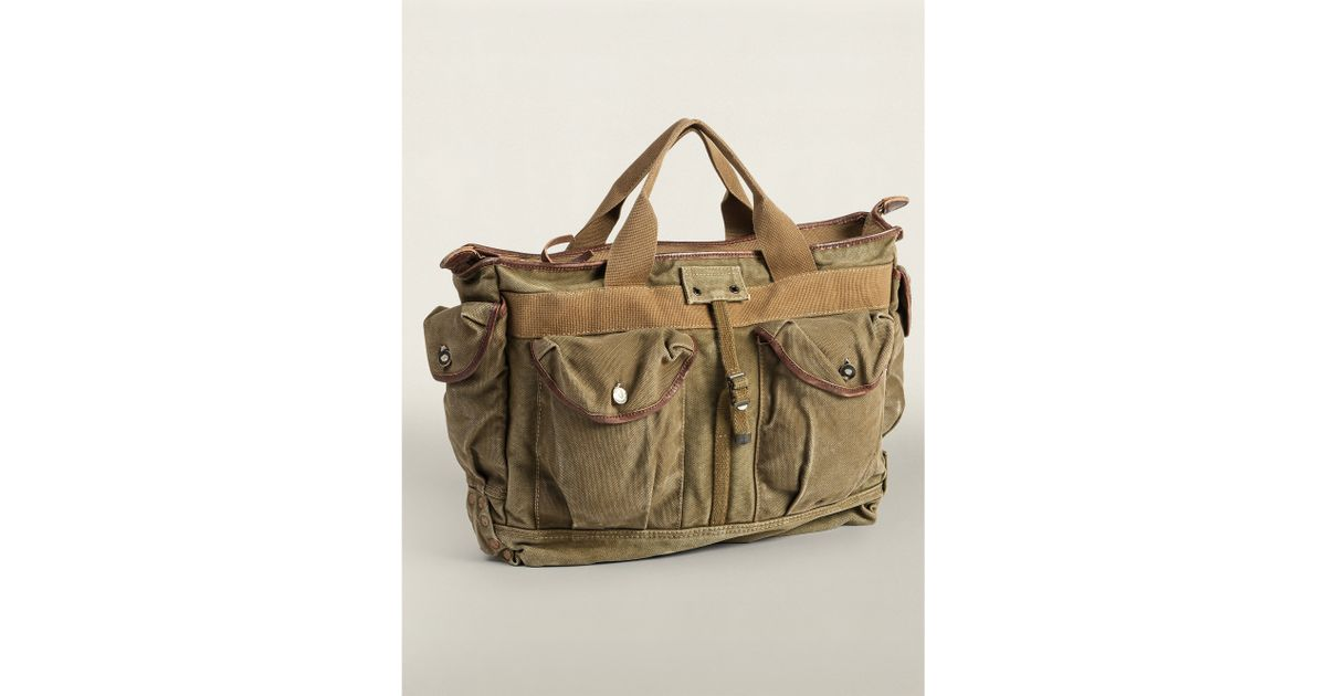Ralph lauren English Canvas Bag in Green for Men (olive drab ...