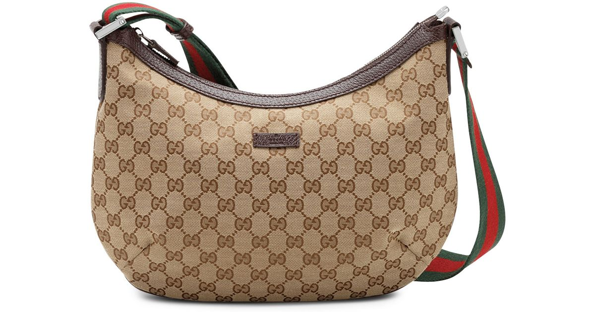 65aff493bc3 Gucci Original Gg Canvas Messenger Bag With Signature Web Strap ...