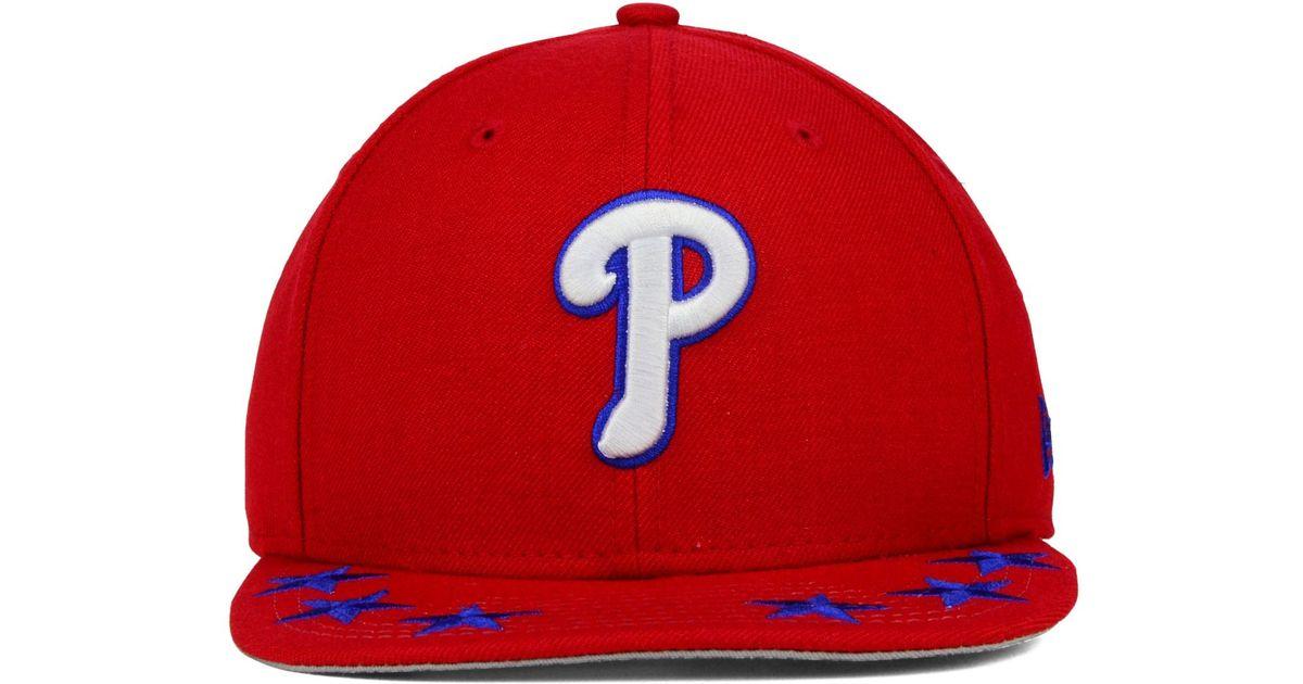 3279d9dcc38 Lyst - Ktz Philadelphia Phillies Star Viz 9fifty Snapback Cap in Red for Men