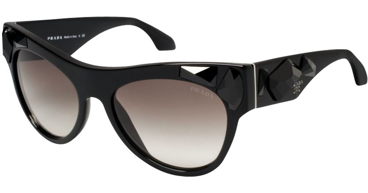 04511d119f1a ... switzerland prada pr22qs limited edition voice sunglasses in black lyst  43c38 a748b