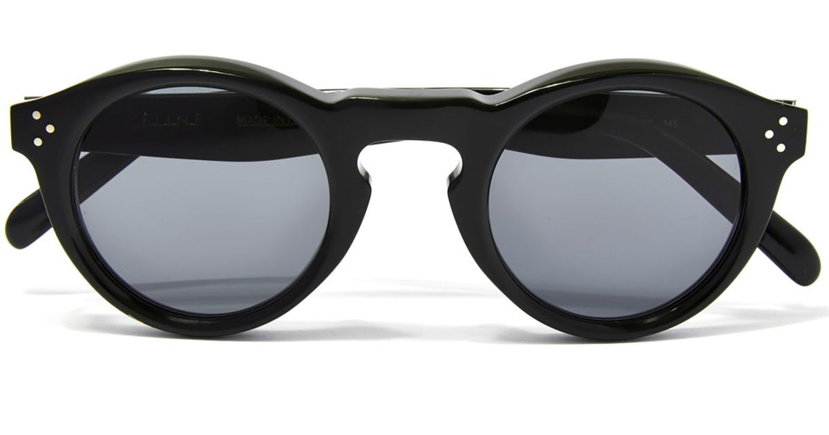 Keyhole Round Black Céline Sunglasses Céline sdthrCxQ