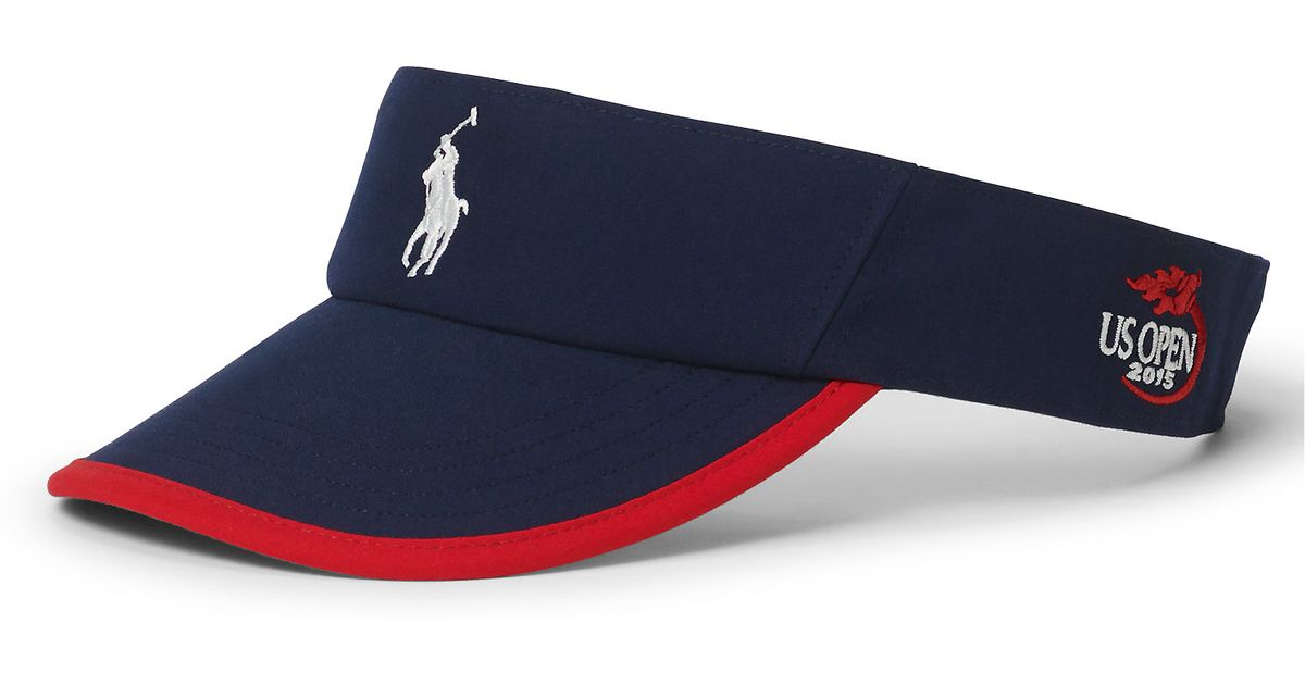 Lyst - Polo Ralph Lauren Us Open Sports Visor in Blue for Men 5f503bb99bc