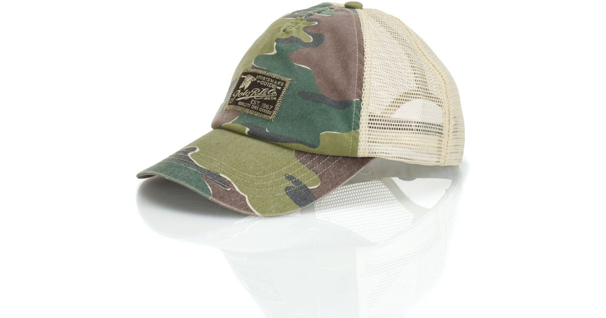 Lyst - Polo Ralph Lauren Camo Trucker Hat in Green for Men a850a8b561d