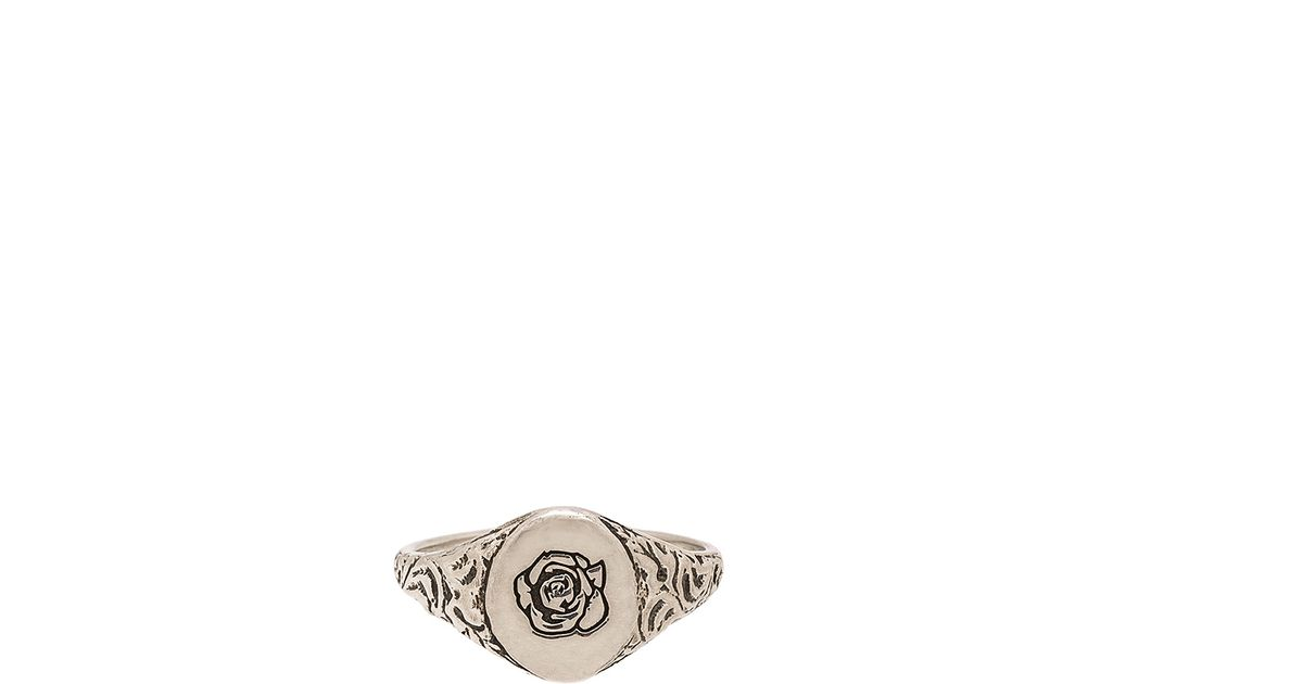 Cast Of Vices x Herman Rose Ring in Metallic Silver JUAq7v