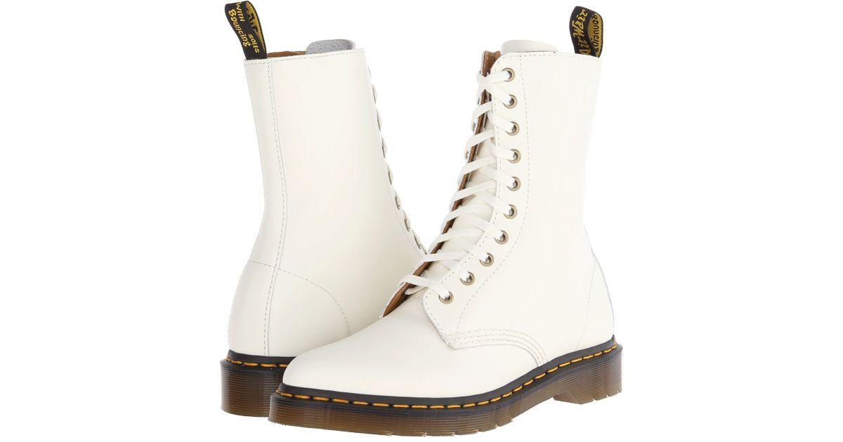279194e907fd Lyst - Dr. Martens Alix 10-Eye Zip Boot in White