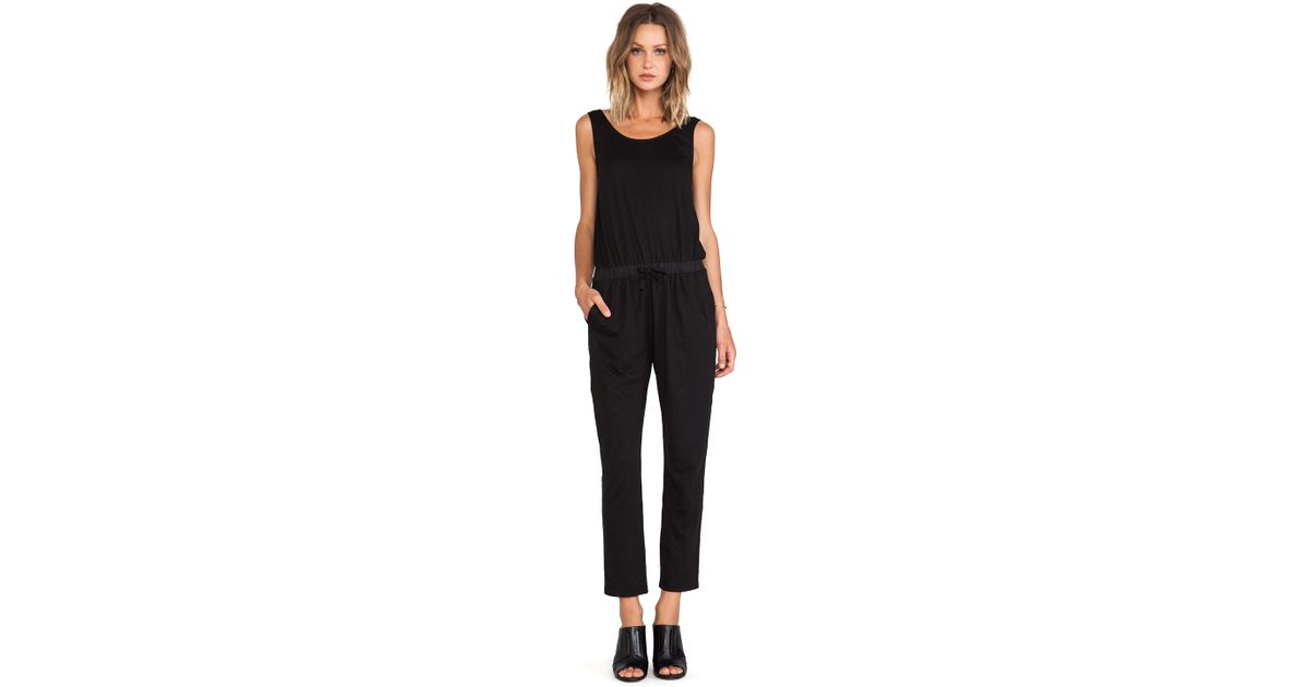 8f08fa1b225 Lyst - Blq Basiq Blq Basics Scoop Back Jumpsuit in Black