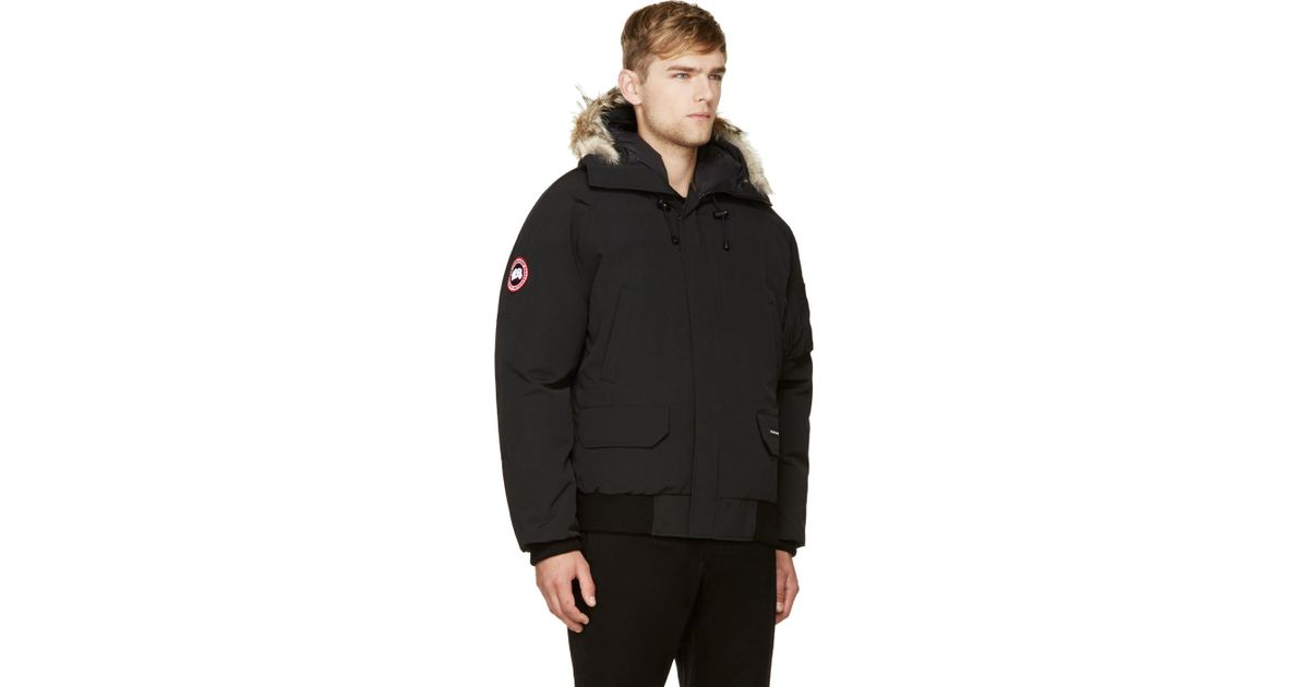 Lyst - Canada Goose Black Down And Fur Chilliwack Bomber in Black for Men