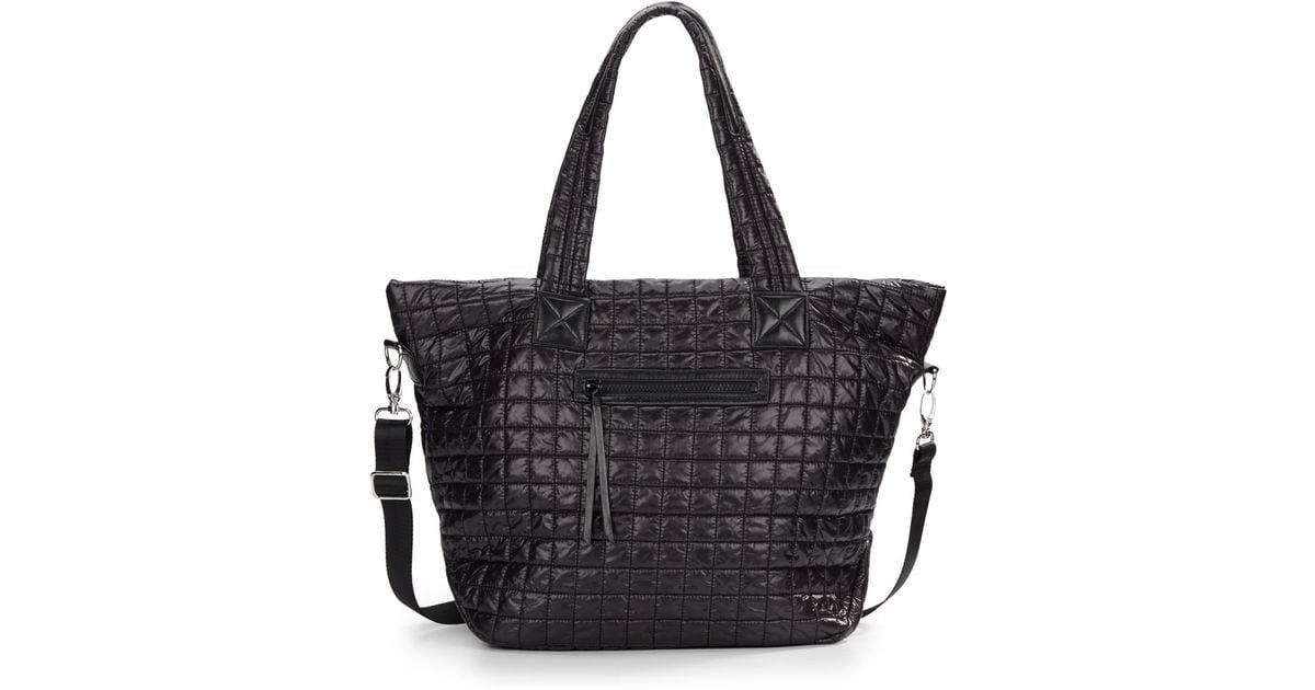 35f1b454d368 Prada Quilted Tote Bag At Saks. Lyst - Prada Tessuto Impunturato ...
