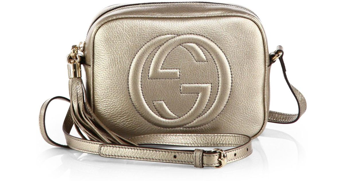 21560981bfc7 Gucci Soho Metallic Leather Disco Bag in Metallic - Lyst