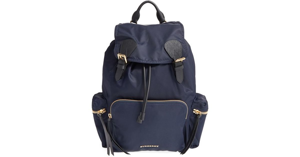 9bde2039935d0 Burberry Prorsum Nylon Backpack in Blue - Lyst