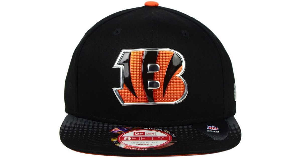 brand new 75f5e 71820 Lyst - KTZ Cincinnati Bengals 2015 Nfl Draft 9fifty Snapback Cap in Black  for Men