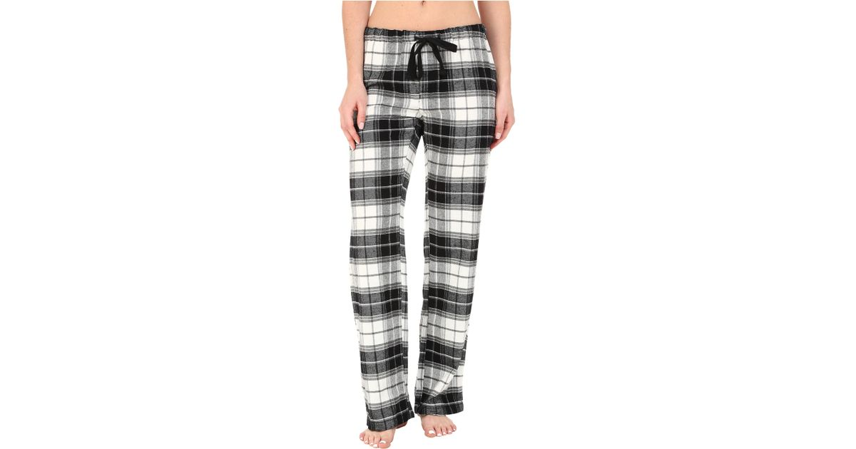 1575c258448 Lyst - Pj Salvage Great Outdoors Plaid Pajama Pants in Black