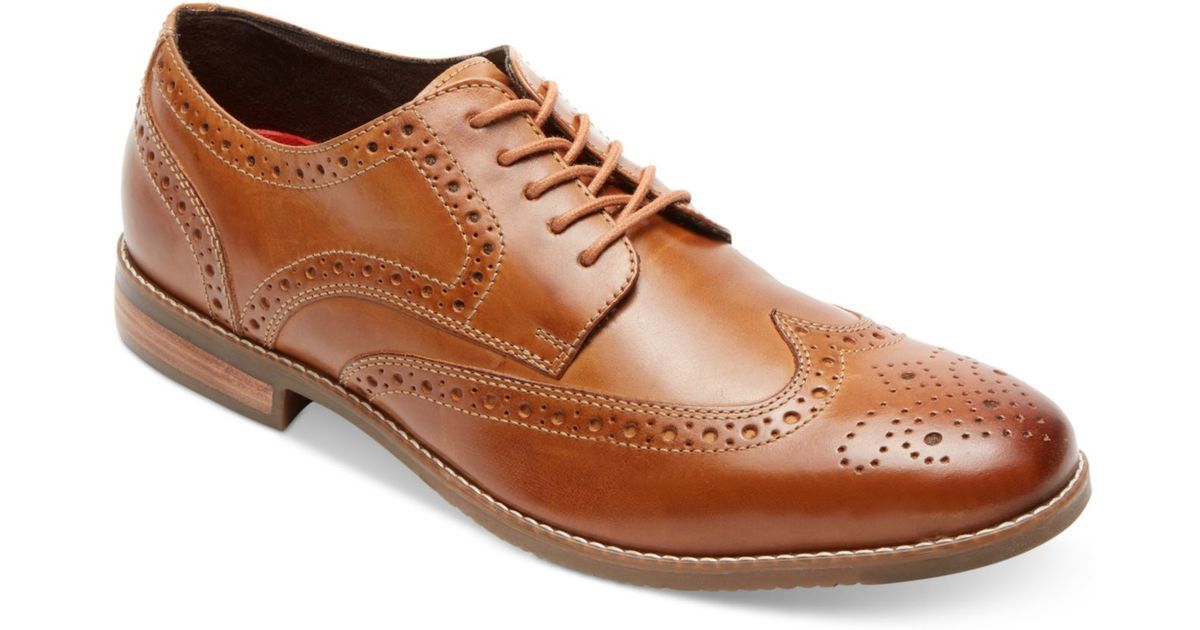 Rockport Mens Style Purpose Wingtip Oxfords In Brown For