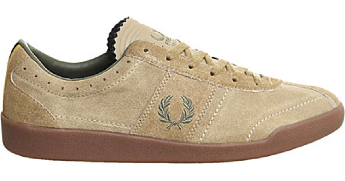 eca2efed0 Fred Perry Stockport Stockport Bradley Wiggins Leather Trainers in Natural  for Men - Lyst